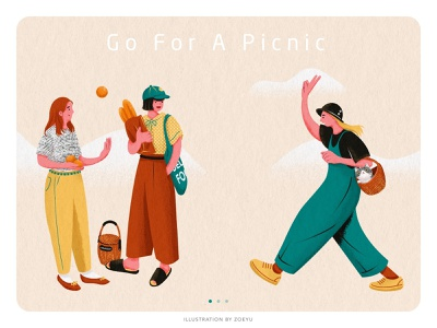 Illustration series of Picnic:Go For A Picnic picnic holiday flat vector character design vector illustration vectorart illustrator character art design illustration