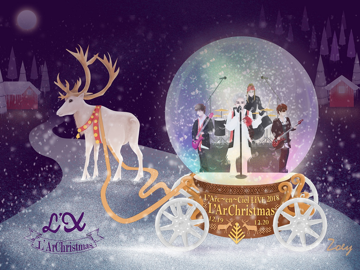 L'ArChristmas is coming design illustration