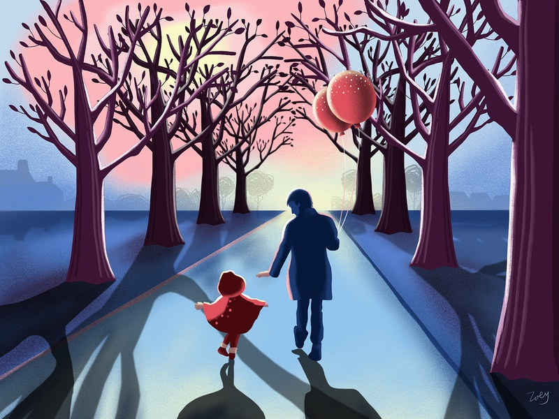 way to sweet home design illustration