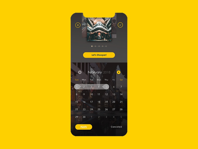 Date Picker - UI Ninja Challenge #1 user interface design uxdesign ux ui user experience design design thinking date picker app design