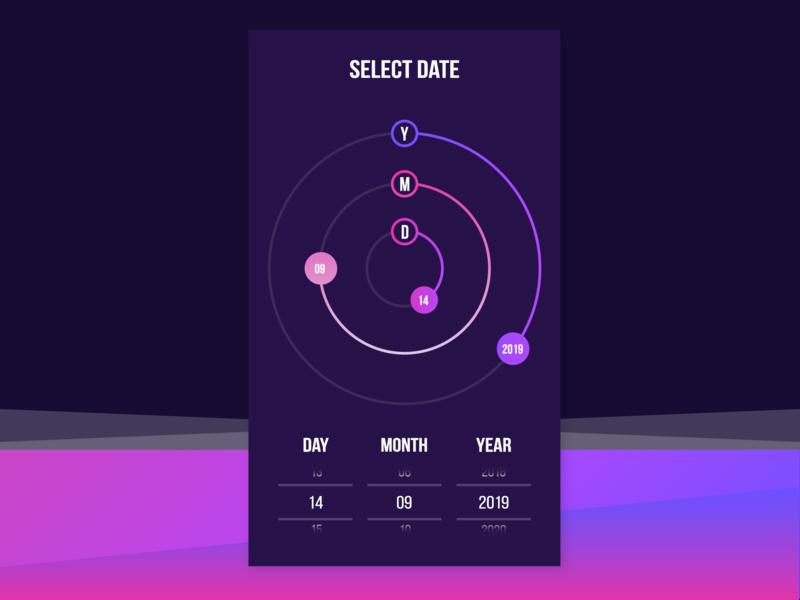 Date Picker - UI Ninja Challenge #1 vector user interface design uxdesign ux user experience design ui design thinking date picker app design