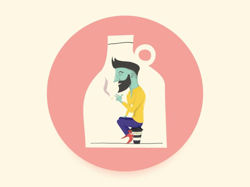 Personal Avatar - UI Ninja Challenge #2 illustrator visual design self portrait avatar design vector illustration