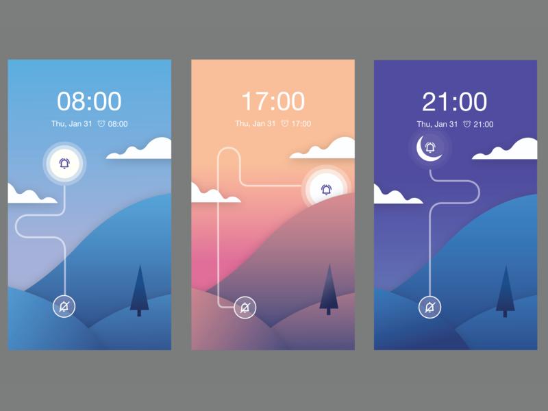 Toggle- UI Ninja Challenge #3 snooze toggle illustration ui vector