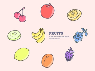 Fruits : Hand-drawn Icons