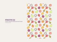 Hand-drawn Seamless Pattern : Fruits 02