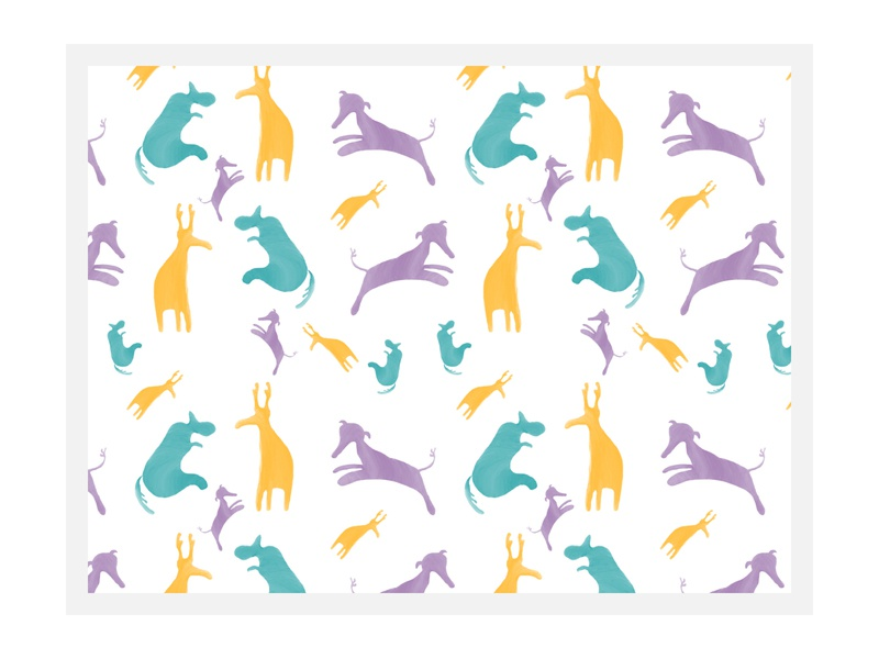 Seamless Pattern purple green yellow blue seamless wallpaper design children animals pattern design patterns pattern illustration background