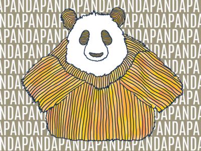 Panda 3 in Orange