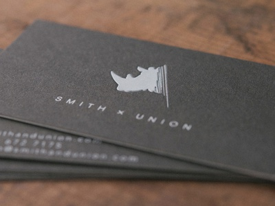 Smith x union business cards by dersurhodes dribbble for Union business cards