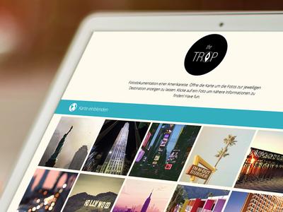 The Trip flat website map locate flat design