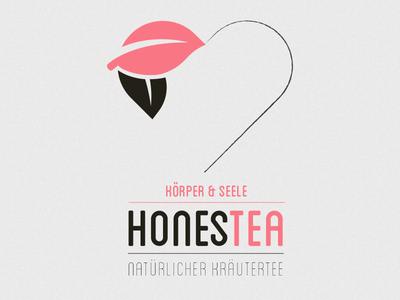 Logo honesttea logo flat tea design leaf body  soul heart