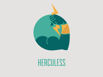 Herculess Logo - first draft flat logo logo herculess tool thunder strong