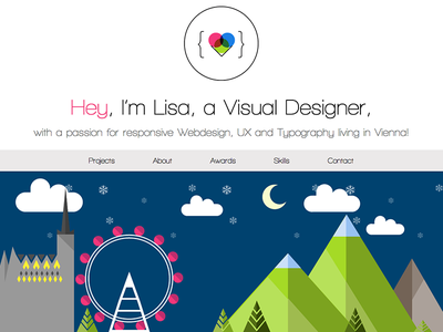 Portfolio Website flat portfolio skyline webdesign website responsive web typography