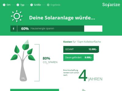 Solarize - Webapp solar sun green flat infographic webapp tree stats statistics solarize