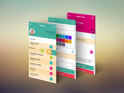 Herculess Preview herculess screendesign flat design mobile first webapp flat list colorpicker