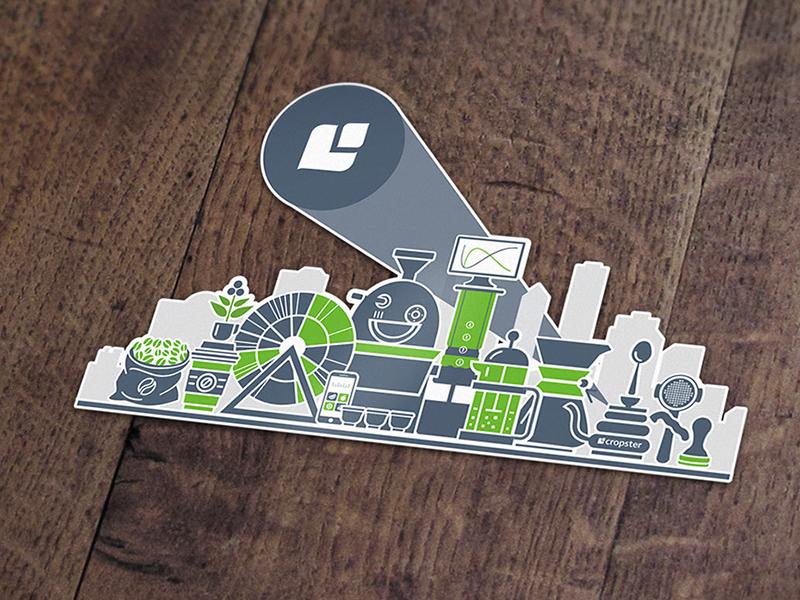 Cropster Sticker corporate design laptop sticker