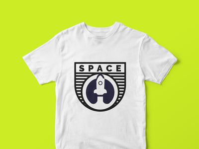space t-shirt design