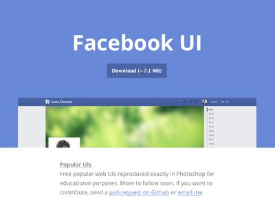 Popular UIs — Free PSDs freebie facebook apple ui free psd interface web