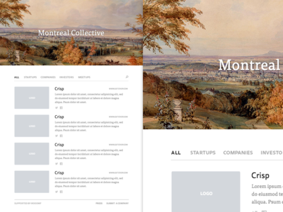 Montreal Collective Homepage montreal made in made by canada startup company investor resources