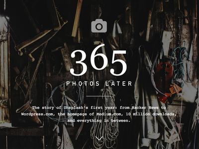 365 Photos Later — Unsplash