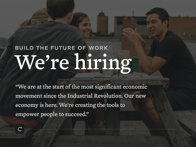 Crew is hiring — Come build the future of work hiring crew montreal freelancer work