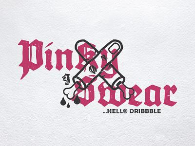 Pinky Swear branding design vector illustration hello debut fingers pink pinky