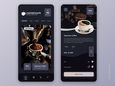 Mobile apps for coffee shop