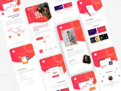 Mobile Ui kit for sketch, illustrator and figma