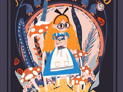 Alice book cover illustration