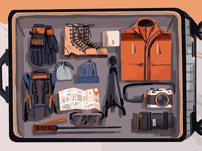 Suitcase illustration