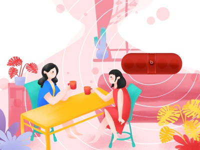 Enjoy the moment ui design illustration