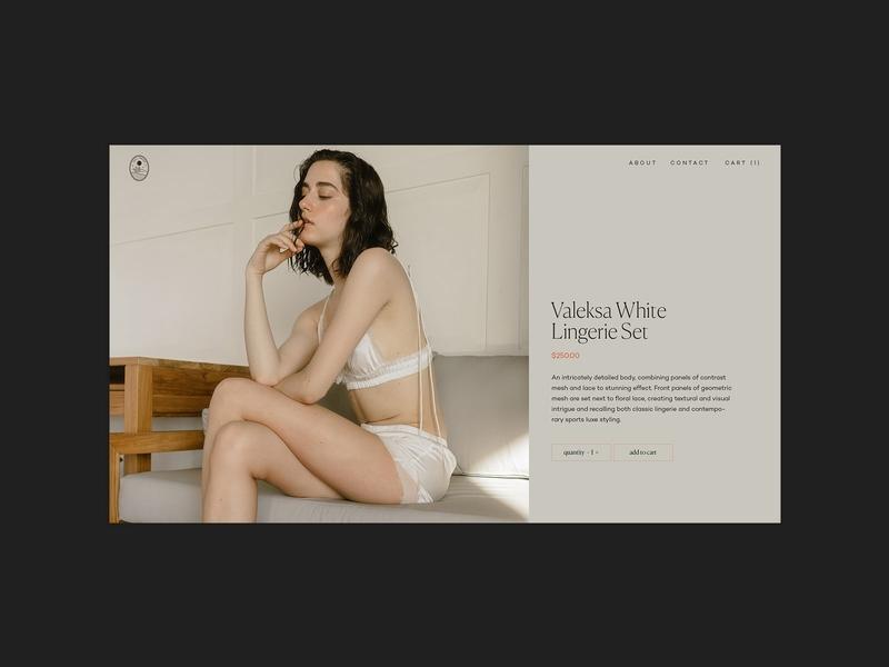 Monochromatic ecommerce monochrome ecology fashion shop template webdesig ux ui design