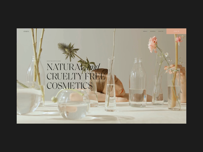 Elegant ecommerce cosmetics soft simple elegant ecommerce webdesig ux ui design