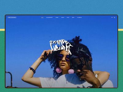 Bywater indie alternative lo-fi music blue green webdesig creative ux ui wordpress design