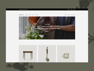 Décor Home clean modern simple art homepage artisan green woocommerce ecommerce ui ux wordpress design