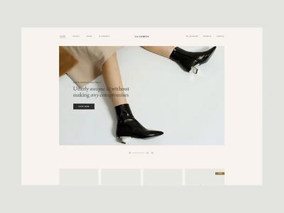 Shoe Store simple design clean minimal stylish ecommerce woocommerce elegant creative ui ux wordpress design
