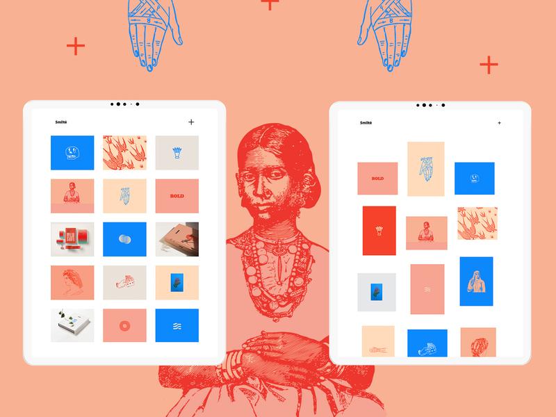 Smiltė bold bold color art webdesig portfolio creative ux ui wordpress design