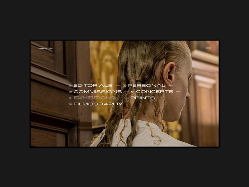 Portfolio showcase - interactive links design ux ui fashion brand typography commercial fashion webdesign portfolio minimal