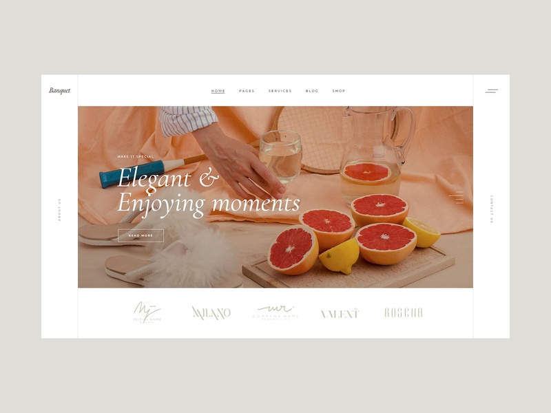 Banquet - Catering and Event Planning Theme light webdesig wordpress ui ux design