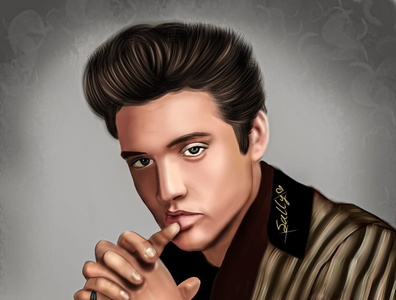 elvis presley portrait design illustration digitalart digital painting digital
