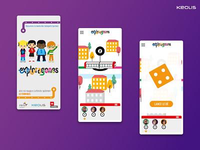 Keolis Exploragones app 01 illustration android ios mobile app mobile ux ui design