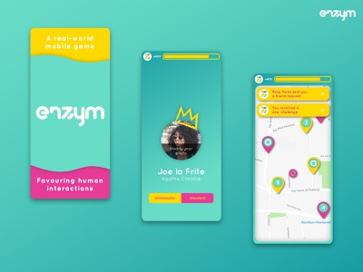 Social Network Enzym 01 logo mobile app mobile ios illustration android ux ui design