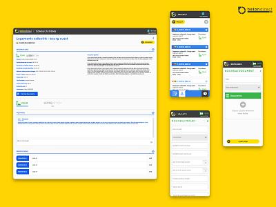 Plateforme SaaS BTP 02 saas app saas webdesign responsive ux ui design