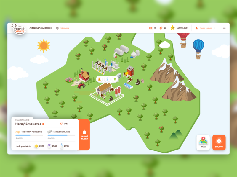 Adoptuj Kravicku - farm by okto digital on Dribbble