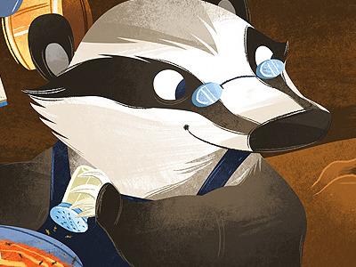 Sleepymole animal badger