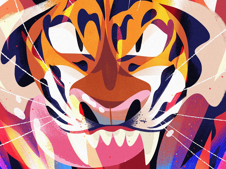 Inner Fire cat animal kidlitart cute tiger art illustration