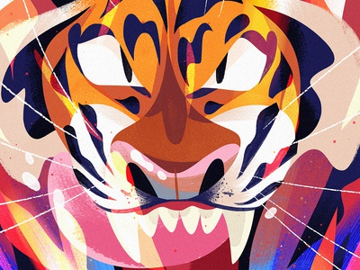 Inner Fire cat animal kidlitart cute tiger art illustration