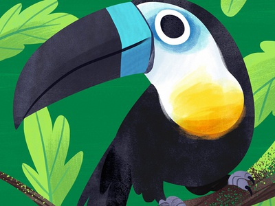 Toucan Blucan animals animal bird toucan kidlitart cute photoshop artwork art illustration