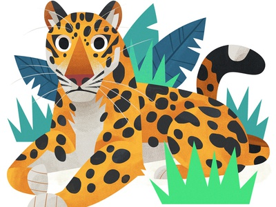 Jaguar lion tiger animal art kidlitart photoshop big cat cat jaguar illustration
