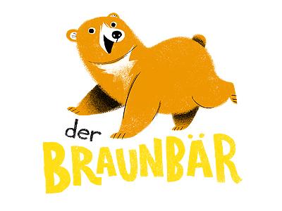 der Braunbär illustration bear german