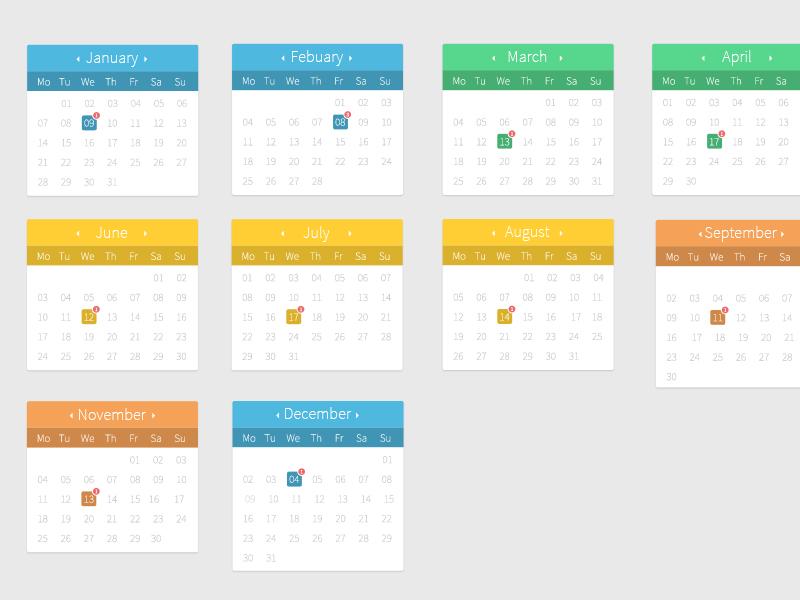Calendar Full freebie free calendar psd calendar free